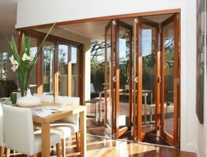 living with stacker and bifold doors